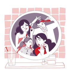 lundi matin - Agnès Druesne illustratrice