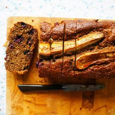 blueberry banana and chia loaf