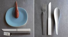 Hybrid Cutlery - Limited Edition Flatware Set by Maarten Van Severn Flatware Set, Cutlery, Bauhaus, Dining Ware, Kitchenware, Tableware, Wood Spoon, Well Thought Out, Cooking Tools