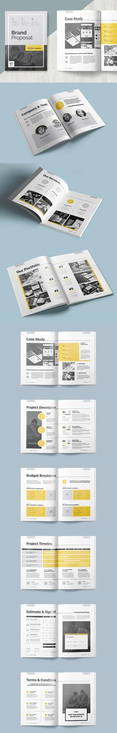 Clean and Professional Proposal Template InDesign INDD - 20 Pages - professional proposal templates