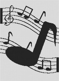 MUSICAL NOTES CROCHET PATTERN GRAPH EMAILED.PDF #394
