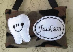 Tooth Fairy Pillow Camo Toothfairy by Mimisartistree on Etsy, $12.95