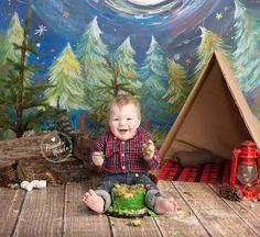 Camping Cake Smash, Lumberjack party, Lumberjack Cake Smash, Boy Cake Smash