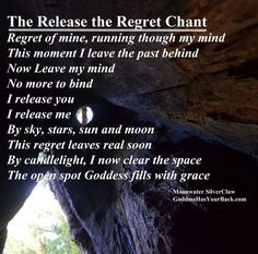 The Release the Regret Chant - Moonwater SilverClaw
