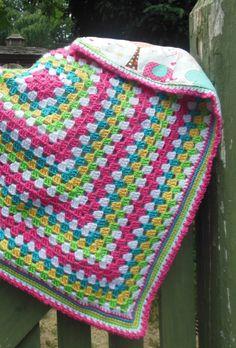 Crochet Bebê Blanket Baby Girl Elephant BellaBeansCrochet POR