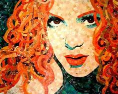 Junk Mail Mosaics-Arte con recortes-Impresionante - Taringa!