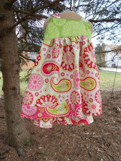 Ruffle Pants and Reverse Knot top dress size 5 in by RugratDesign, $55.00