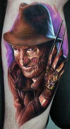 Freddy tattoo by Paul Acker