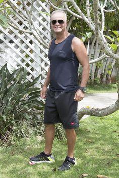 regata em walk strech e bermuda em tactel/race walk in strech and shorts in tactel .