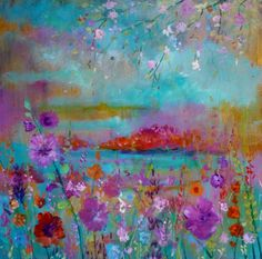 - by Loetitia Pillault Night Flowers, Art Original, Inspiration Art, Beautiful Sunset, Photo Illustration, Oeuvre D'art, Textile Design, Cover Art, Art Gallery