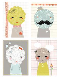 Lisa Martin's whimsical heads