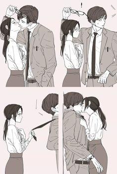 Un peu de tendresse dans ce monde de brutes… Kawaii Anime Girl, Anime Art Girl, Anime Guys, Manga Anime, Anime Naruto, Romantic Anime Couples, Romantic Manga, Anime Couples Cuddling, Anime Couples Sleeping