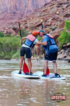 A perfect half-day date, enjoy stand-up paddle boarding on the Colorado River! A relaxing and comfortable day to share with those you love! #Valentine #date #couple #Utah #Moab