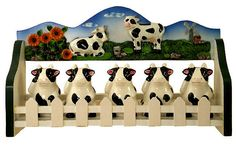 Country Cows for Kitchen | hanging cow clock ,round clock cow theme