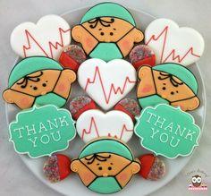 Surgeon Cookies, Doctor Cookies, Heart Cookies, Thank You Cookies, Medical Cookies