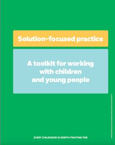 Solution-focused practice toolkit for working with children and young people Social Work Books, Solution Focused Therapy, Counseling Techniques, Play Therapy Techniques, Behavior Interventions, School Info, Mindfulness For Kids, Bullying Prevention, Family Therapy