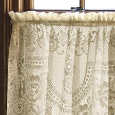 Heritage Lace Victorian Rose Curtain Panel