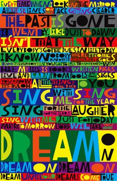 LyricArt: Aerosmith Dream On Signed & by RocknRollLyricArt on Etsy