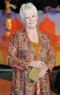 My very favourite actress. Dame Judi Dench attends 'The Second Best Exotic Marigold Hotel' Royal World Premiere at the Odeon in Leicester Square, London