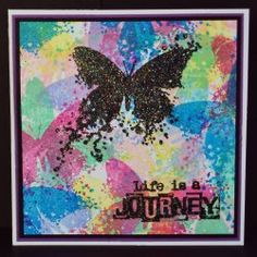 Visible Image stamps - Inky Butterfly - Life Is A Journey - Pauline Butcher