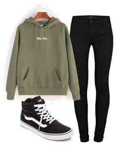 """Untitled #964"" by aaisha123 ❤ liked on Polyvore featuring J Brand and Vans"