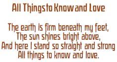 Lovely morning verse