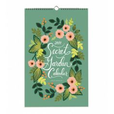 2014 Secret Garden Wall Calendar --Rifle Paper Co. Rifle Paper Company, Botanical Illustration, Paper Goods, Decoration, Hand Lettering, Stationery, Graphic Design, Print Design, Gift Ideas