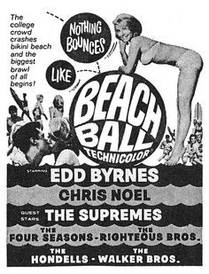 60's beach party poster