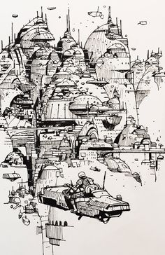 Pen Illustration, Ink Illustrations, Fantasy Drawings, Fantasy Art, Character Design Animation, Character Art, Psychedelic Drawings, Background Drawing, Environment Concept Art