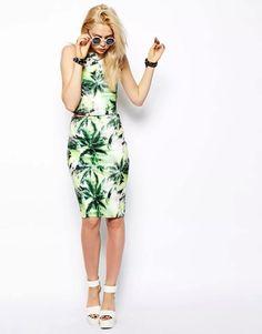 Asos palm's top & skirt