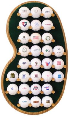 Northwest Gifts - 29 Logo Golf Ball Display Rack, $44.95 (http://northwestgifts.com/products/29-Logo-Golf-Ball-Display-Rack.html)