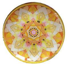 Buddha Sun glass plate with design from Jo Thomas Blaine