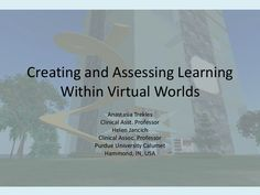 Activities and Assessments for Virtual Worlds