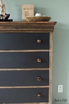 Industrial Rustic Dresser. Like for painting kids dresser.