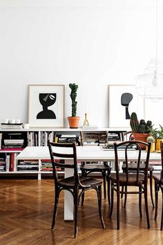 A 1920's apartment in the heart of Stockholm, furnished with a mix of mid-century