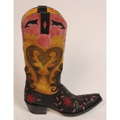 Letty Boots by Old Gringo- Black and Yellow