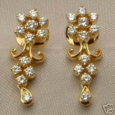 Gold and diamond Earrings design