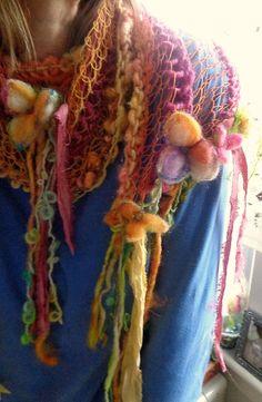 hadas flor boho arte hilo resorte abrigo bufanda por beautifulplace
