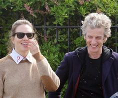 Osgood and Twelve! Peter Capaldi, Television Program, How To Run Faster, Doctors, Comedians, Doctor Who, Science Fiction, Eyebrows, Things To Think About