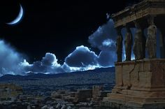 A Photoshopped rendition of how the Acropolis might look at night if the city of Athens ever slept.