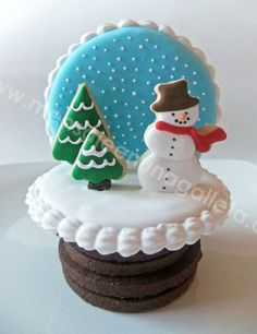 3D Snowglobe cookie