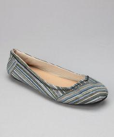 Look at this #zulilyfind! Black Stripe Ballet Flat by Shoes of Soul #zulilyfinds