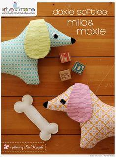 Sew fabric dachshund: free pattern