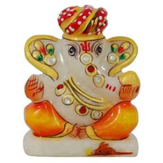 Rajasthani Style Ganapati Idol - Made of marble