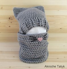 kitty cat hat and cowl