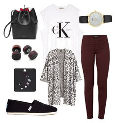 """""""Untitled #6"""" by tatizzen on Polyvore featuring J Brand, Calvin Klein, H&M, Kate Spade and TOMS"""