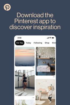 We all need a little inspiration right now. You can find home decor, recipes, fashion and beauty ideas on the go on the Pinterest app.