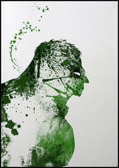 Paint splattered superheroes by Arian Noveir.  Easy to DIY with a template of your favourite item.   #lifeinstyle #greenwithenvy