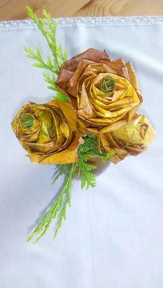 Růžička z lístků :-)