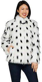 Poka-Dot fur!   Dennis Basso Platinum Collection Stand CollarCoat #winter#winterfashion#winteroutfits